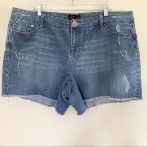 Torrid Faded Denim Shorts